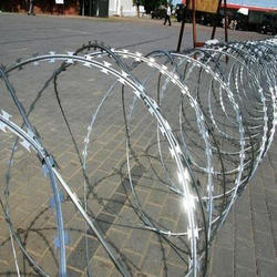 Silver Mild Steel Concertina Wire