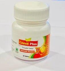 Ceevit Plus Vitamin C Immunity Booster Chewable Tablets, 500 Mg