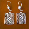 Errct6 Silver Filigree Earrings