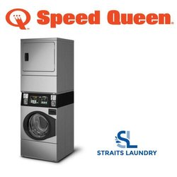 Speed Queen Commercial Coin Operated Stack Washer and Dryer Quantum Gold
