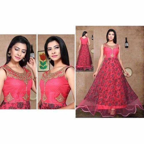 d606ab10e45 Ladies Georgette Party Wear Gown