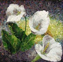 Decorative Flower  Mosaic Tile