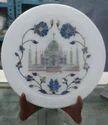 Round Marble Pietra Dura Plate