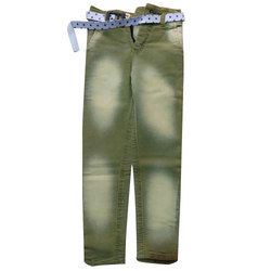 Embroidery Denim Kids Jeans In Dusty Colors
