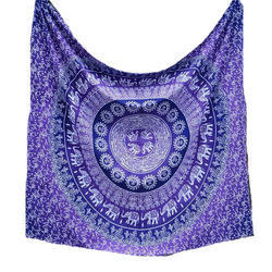 Cotton Purple Mandala Tapestry