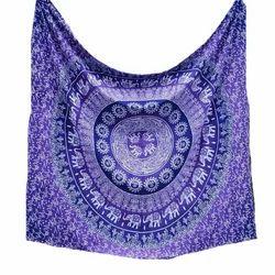 Cotton Purple Mandala Tapestry