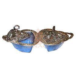 White Metal Dry Fruit Bowl