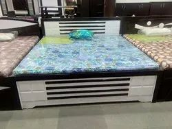 Black And White Modern Wooden Double Bed