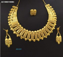 Gold Plated Short Necklace Set
