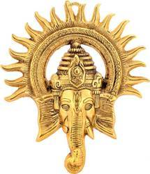 Gold Plated Ganesha Face Hanging