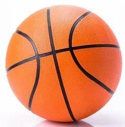 Orange,Black Sports Rubber Basketball Ball Size 7, Size: 18 - 27 Inch