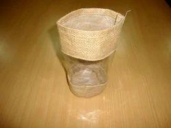 Jute Basket With PVC Window