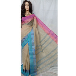 Bengali Tant Pure Cotton Saree
