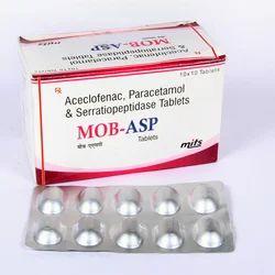 Aceclofenac, Serratiopeptidase