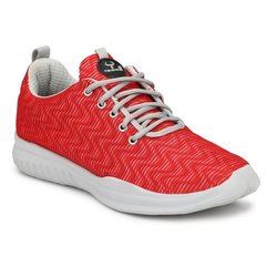 Taurene Sports Red and White Running Shoes, Size: 6-20