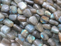 Labradorite Smooth Tumble Stone Beads