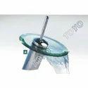 Round Glass Waterfall Basin Mixer