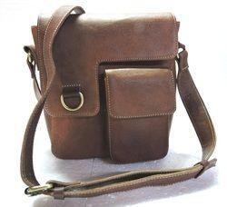 899f5f8fe4cf Handicraft Villa Vintage Green Leather Unisex Messenger Bag