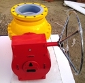 Polycoat Flanged End Gear Operated Ball Valve, For Industrial, Size: 150 Mm, 200 Mm, 250 Mm, 300 Mm