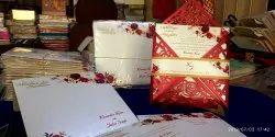 Perl sheet Single Fold Insert Wedding Card