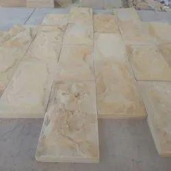 Teak Wood Sandstone Rock Face, Thickness: 20-35mm, Size: 15x30cm,15x60cm