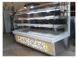 Stainless Steel Bain Marie Counter(Portable Model) with Glass