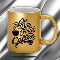 AapparelTech Printed Golden Mug, For Gifting
