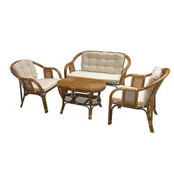 Wooden Antique IRA Cane sofa set 5 seater, For Hotel, Hall
