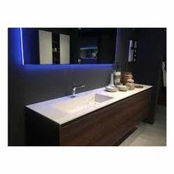 Wooden Rectangular Bathroom Vanity