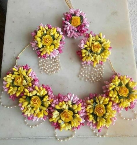Haldi Floral necklace set