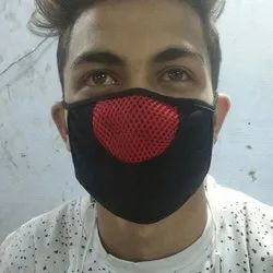 Black and Red Nose Mask
