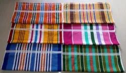 Multicolor Stripped Cotton Terry Towel, Rectangular, 250-350 GSM