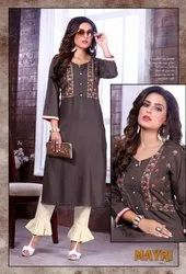 Mayuri Rayon Flex With Work Exclusive Designer Kurti with Paint