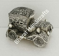 Antique Silver Plated Car