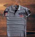 Lycra Cotton Superdry Grey Color Polo Men T-shirt