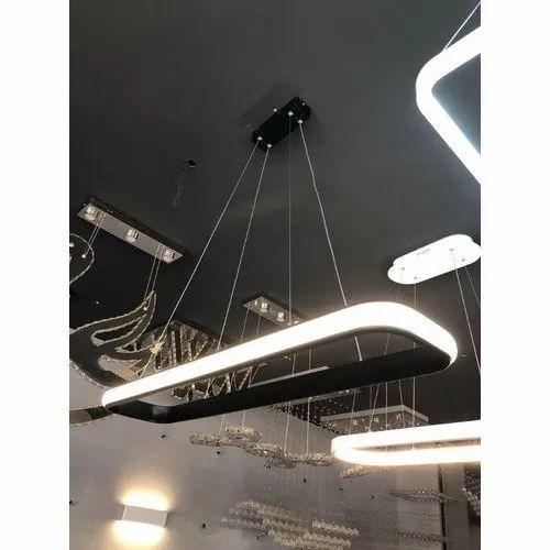 Acrylic Rectangle LED Hanging Chandelier