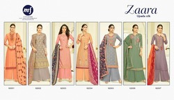 Heavy Embroidered Silk Palazzo Suits