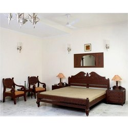 Carved Wooden Bedroom Furniture Set