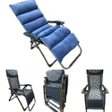 Folding Gravity Recliner Chair - 03C - With Cushion-Grey