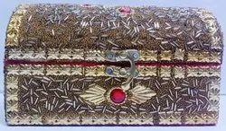 金色木制首饰盒,派对用品