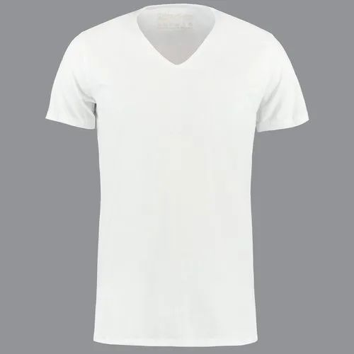 5f2955b0ef4fa1 White Cotton Mens V Neck T Shirt, Size: S-XXL, Packaging Type ...