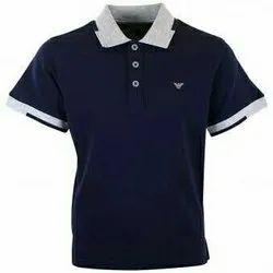 Cotton Half Sleeves Plain T Shirt