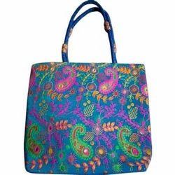 Ruffle Designer Embroidered Hand Bag