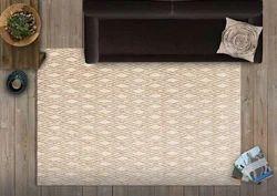 Beige & Ivroy Hand Tufted Carpets, Size: 5ft X 8ft