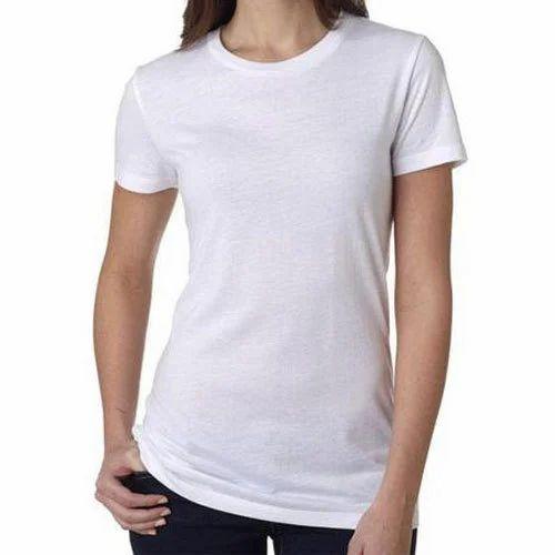 42e7c46064cf White Half Sleeve Plain T Shirt