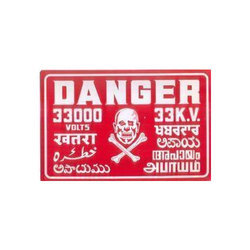 Tin Printed Danger Sign Board