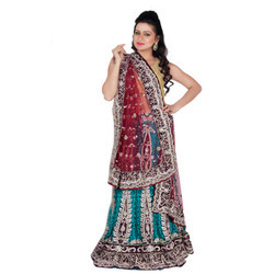 Zardozi Work Party Wear Bridal Lehenga, Size: S-L