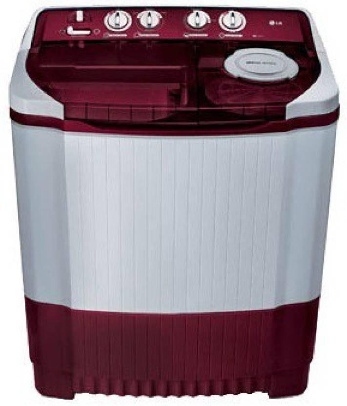 LG 8 kg Semi Automatic Top Load Washing Machine, P9032R3SM, White & B...