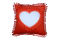Sublimation Velvet Cushions Blank Printable Covers Square With Heart Shape Personalized