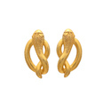 Cursive Snake Micron Gold Plated 925 Sterling Silver Insect Based Earring
